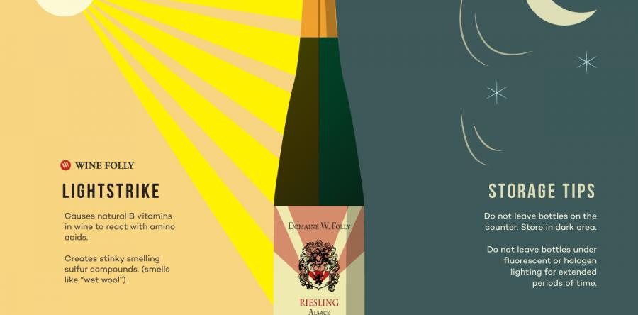 Tại sao rượu vang không thể để dưới ánh nắng mặt trời?