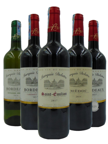 Bordeaux Marquis Delatre Wine Gift Set