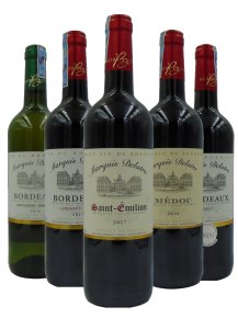 Bordeaux Marquis Delatre Wine Gift Set