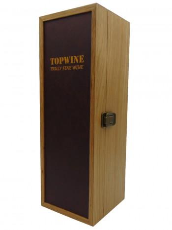 Hộp Gổ Xoan Đào Topwine - Mặt Bọc Da Cao Cấp