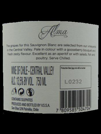Thông tin rượu vang Alma Sauvignon Blanc