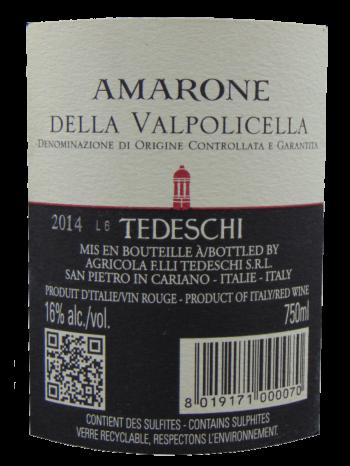 Thông tin rượu vang Amarone Tedeschi