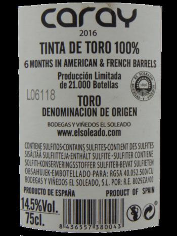 Thông tin rượu vang Caray Blanco 2016