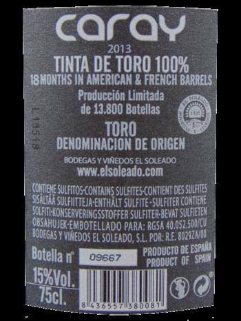 Thông tin rượu vang Caray Negro 2013
