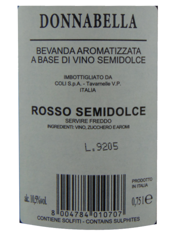 Thông tin rượu vang Donnabella Semidolce