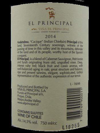Thông tin rượu vang Vina El Principle