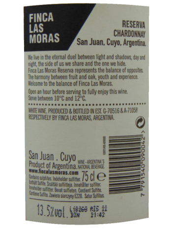 Thông tin rượu vang Las Moras Reserva Chardonnay