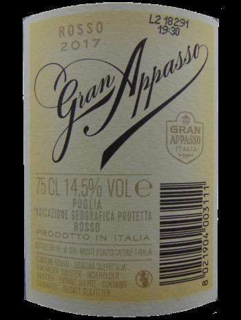 Thông tin rượu vang Gran Appasso Rosso Passito IGP