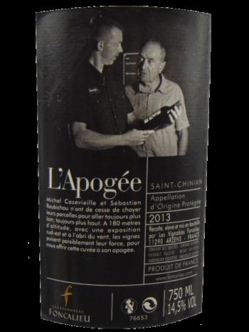 Thông tin rượu vang L'Apogée Saint-Chinian 2013