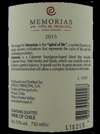 Thông tin rượu vang Vina El Principle Memorias