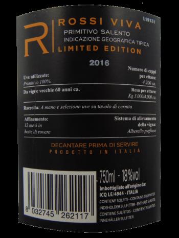 Thông tin rượu vang Rossi Viva