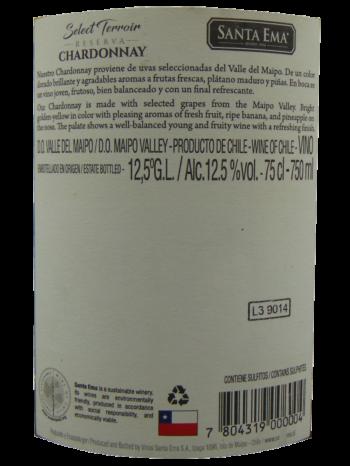 Thông tin rượu vang Santa Ema Chardonnay Reserva