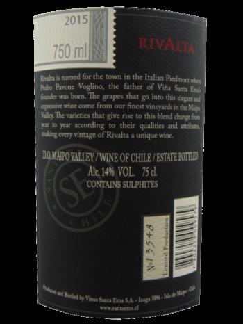 Thông tin rượu vang  Santa Ema Rivalta