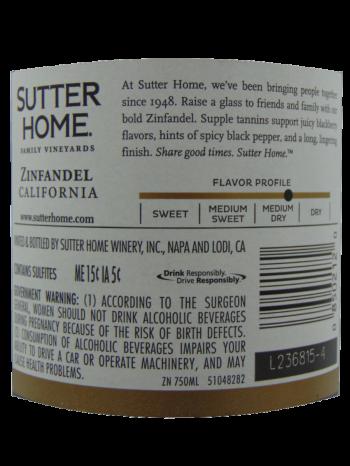Thông tin rượu vang Sutter Home Zinfandel