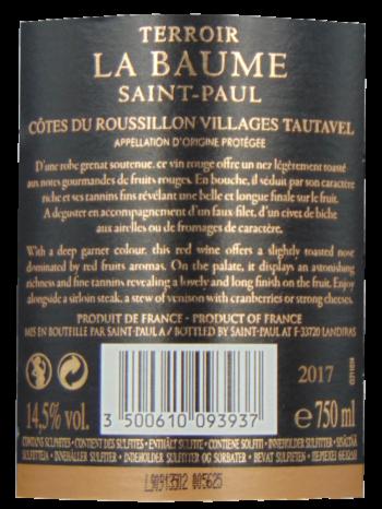 Thông tin rượu vang Terroir de la Baume Tautavel