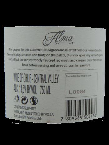 Thông tin rượu vang Alma Cabernet Sauvignon