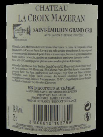 Thông tin rượu vang Chateau La Croix Mazeran