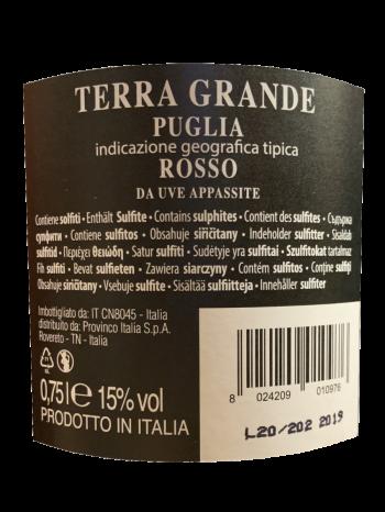 Thông tin rượu vang Terra Grande Rosso Appassimento